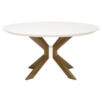 """Essentials For Living District Industry 60"""" Round Dining Table - Ivory"""