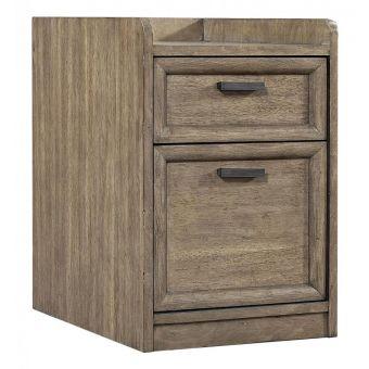 Aspenhome Trellis Rolling File Cabinet - Desert Brown