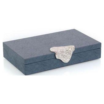 John Richard Gypsy Blue Leather Box I