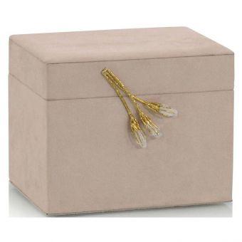 John Richard Blush Suede Jewelry Box II