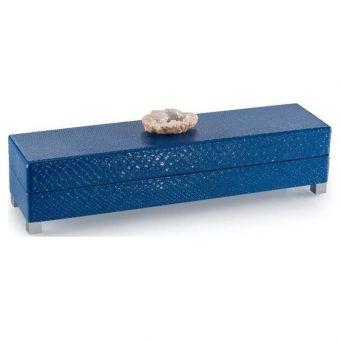 John Richard Indigo Blue Box with Stone Accent