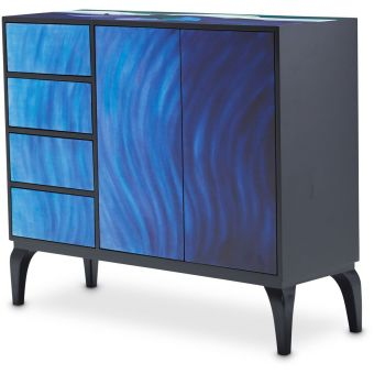 AICO Michael Amini Kathy Ireland A La Carte Illusions Blue Waves Cabinet