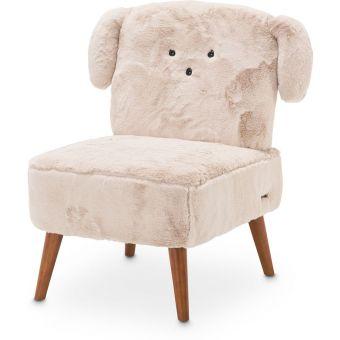 AICO Michael Amini Kathy Ireland A La Carte Illusions Puppy Armless Chair