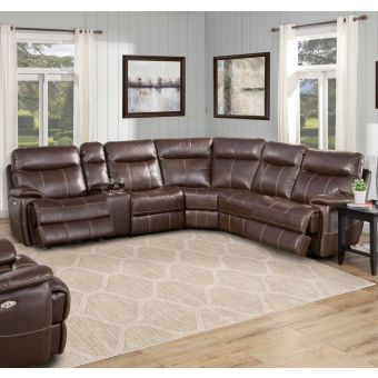Parker Living Dylan 6-PC Sectional Sofa Package A - Mahogany