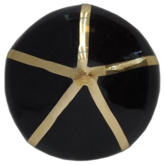 Worlds Away Miranda Pointed Knob with Brass Detail in Black (CL1A) - CLEARANCE SALE