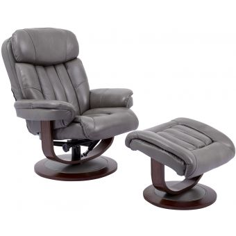 Parker Living Prince Ice Manual Reclining Swivel Chair and Ottoman