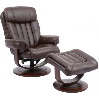 Parker Living Prince Robust Manual Reclining Swivel Chair and Ottoman
