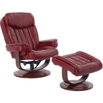 Parker Living Prince Rouge Manual Reclining Swivel Chair and Ottoman