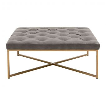 Essentials For Living District Rochelle Upholstered Square Coffee Table