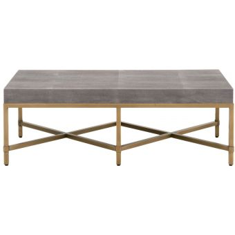Essentials For Living Traditions Strand Shagreen Coffee Table in Gray