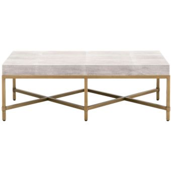 Essentials For Living Traditions Strand Shagreen Coffee Table in White