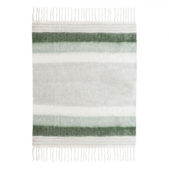 TOV Furniture Afrino Wool Green/White Throw
