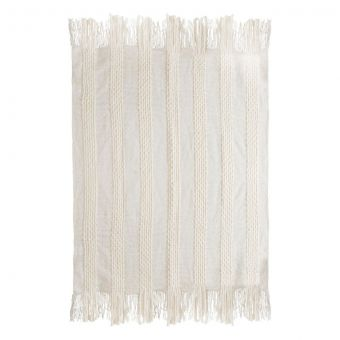 TOV Furniture Lima Cotton White Throw