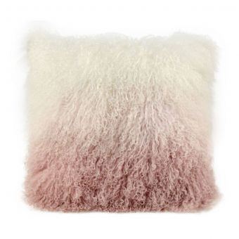 TOV Furniture Tibetan Sheep Pillow White To Blush