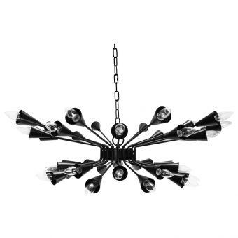 Worlds Away Volanti Twenty Light Sputnik Chandelier in Matte Black (CL1A) - CLEARANCE SALE