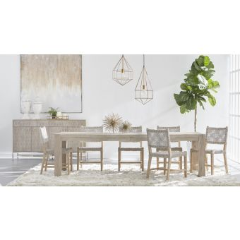 Essentials For Living Traditions Adler 7pc Extension Dining Table Set#6849