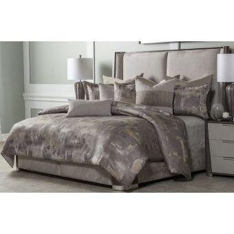 AICO Michael Amini Aubrey 9pc Queen Comforter Set, Patina