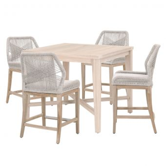 """Essentials For Living Woven Carmel- Loom Outdoor 42"""" Square Counter Dining Set - CT1CS1"""