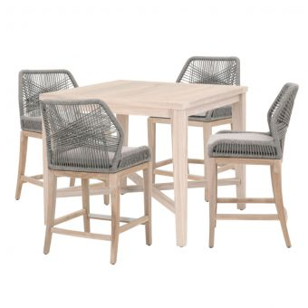 """Essentials For Living Woven Carmel- Loom Outdoor 42"""" Square Counter Dining Set - CT1CS2"""