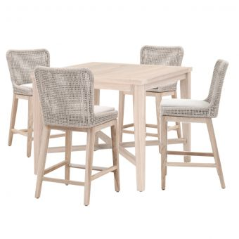 """Essentials For Living Woven Carmel- Mesh Outdoor 42"""" Square Counter Dining Set - CT1CS"""