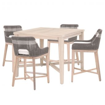 """Essentials For Living Woven Carmel-Tapestry Outdoor 42"""" Square Counter Dining Set - CT1CS2"""