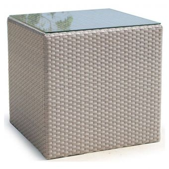 Skyline Design Coast Side Table With Clear Glass
