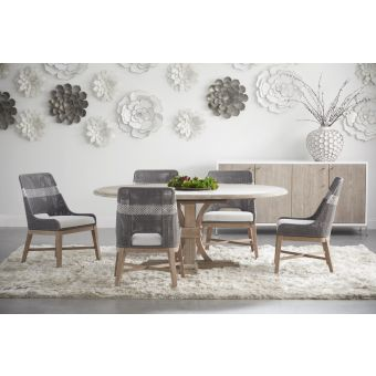 """Essentials For Living Traditions Devon 7pc 54"""" Round Extension Dining Table Set"""