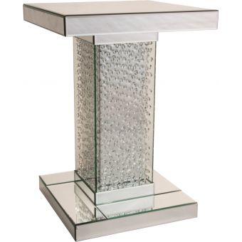 AICO Michael Amini Montreal Medium Accent Table with Crystals - SALE