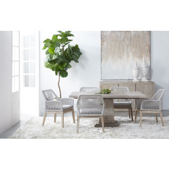 """Essentials For Living Traditions Hudson7pc 44"""" Square Extension Dining Table Set"""