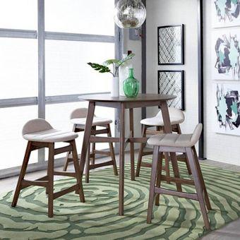 Liberty Furniture Space Savers Gathering Table with Tan Barstool Set