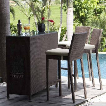 Skyline Design Pacific Bar Set With Clear Glass