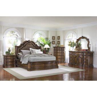 Pulaski Furniture San Mateo Sleigh Bedroom Set - California King