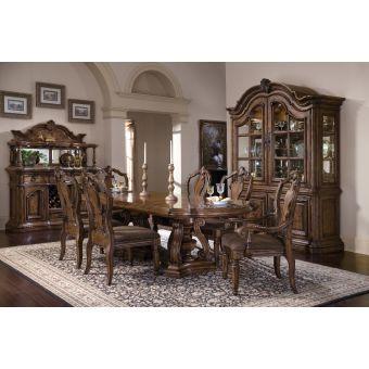 Pulaski Furniture San Mateo Double Pedestal Dining Set