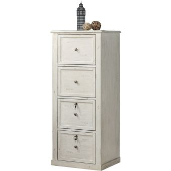 Parker House Hilton 4 Drawer Tall File Cabinet