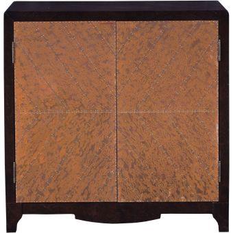 Accentrics Home Copper Chevron Door Bar Cabinet